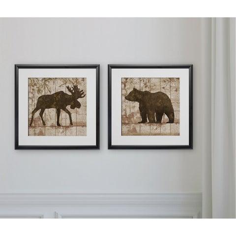 Moose & Bear Crossing -2 Piece Set