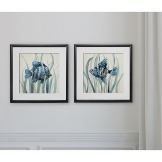 Fish in Seagrass I -2 Piece Set