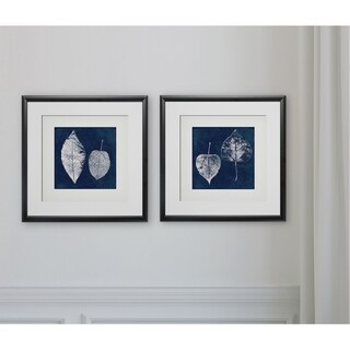Cyanotype Ash Leaves -2 Piece Set