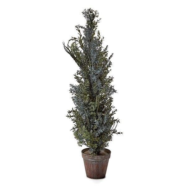 36 Inch Plastic Dried Autumn Wild Flower Topiary With 6 5 Rustic Iron Round