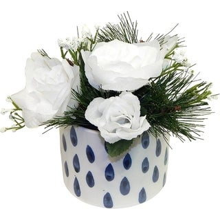 White Christmas Rose Arrangement