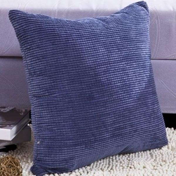 Blue Corduroy 24 Inch Pillow Cover Cushion Case