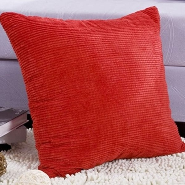 Red Corduroy Pillow Cover 24 X