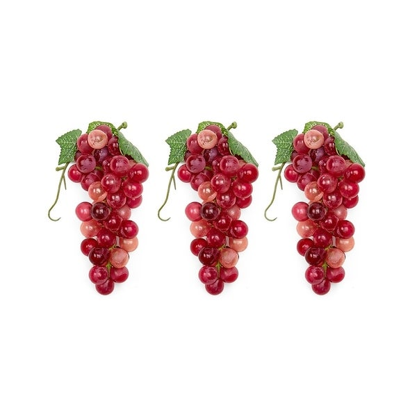 A Set Of 3 Soft Touch Faux Grapes -- L (48 Grapes Per Cluster). Opens flyout.
