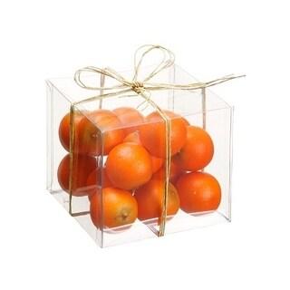 "4""Hx4""Wx4""L Assorted Orange(15ea./Acetate Box)"