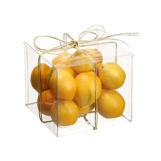 "4""Hx4""Wx4""L Assorted Lemon(15ea./Acetate Box)"