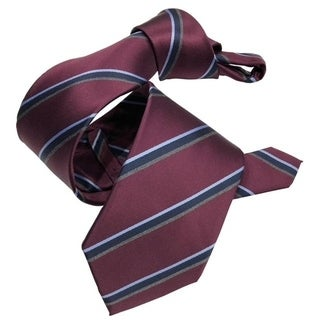 DMITRY Maroon Striped Italian Silk Men's Tie