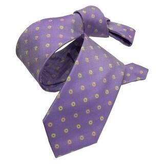 DMITRY Purple Patterned Italian Silk Men's Tie