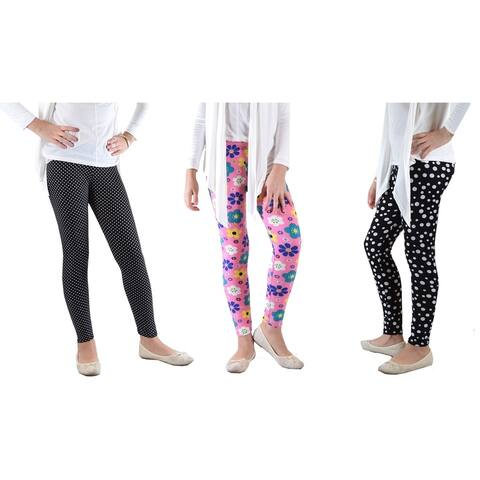 Girls fun Printed Leggings Soft Light and Fun