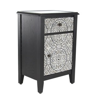 Traditional 32 x 20 Inch Wood and Iron Side Cabinet