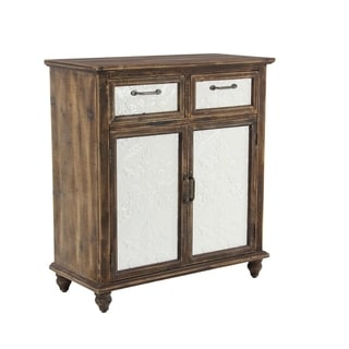 The Curated Nomad Heathcote Rustic 33 x 30 Inch 2-door Rectangular Wooden Cabinet