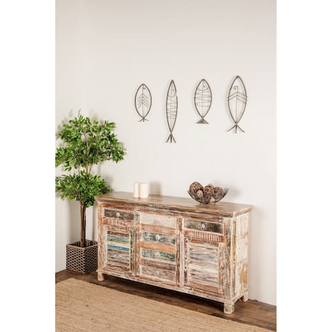 Rustic 34 x 60 Inch Rectangular Distressed Sideboard by Studio 350