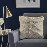 Rooney Square Wool Pillow by Christopher Knight Home