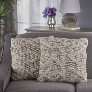Rooney Square Wool Pillow (Set of 2) by Christopher Knight Home