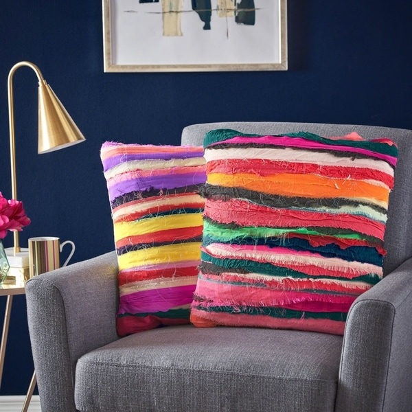 Rooney Square Wool Bali Pillow (Set of 2) by Christopher Knight Home