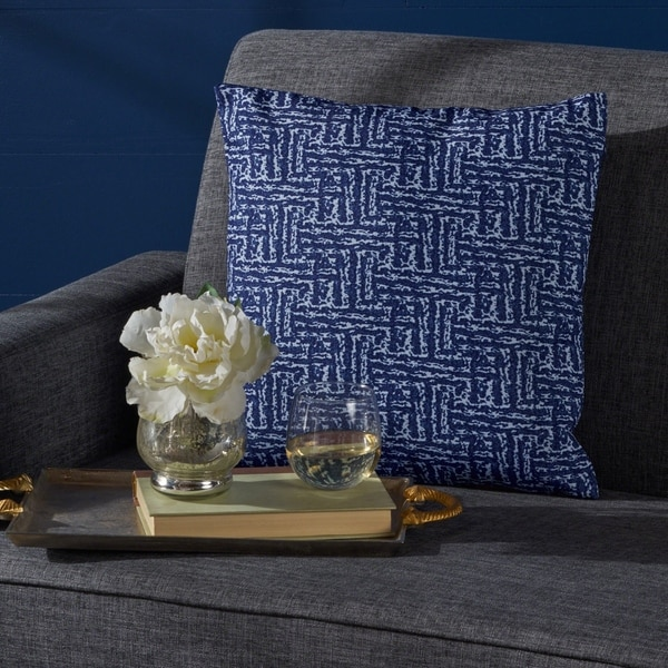 Sanne Square Print Fabric Pillow by Christopher Knight Home