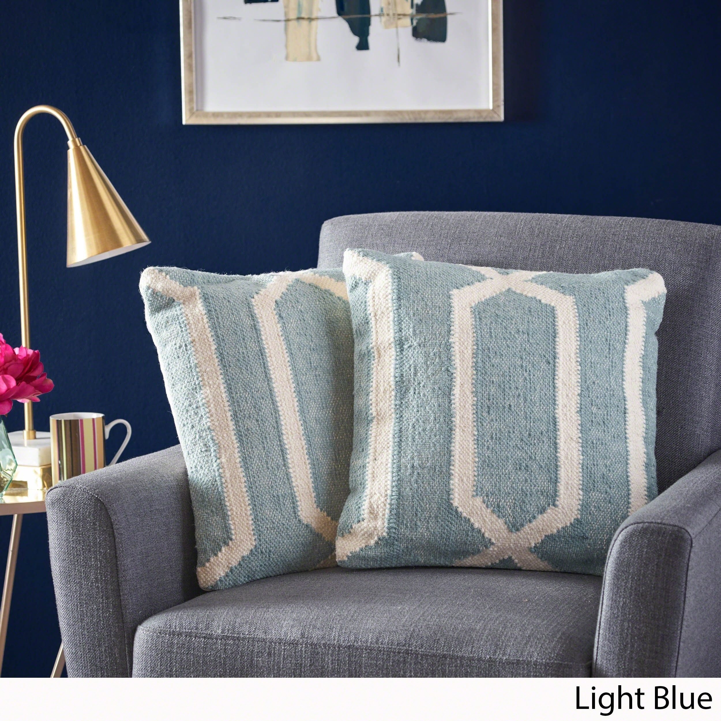 Buy Throw Pillows Online At Our Best Decorative Inside Flats Cariana Navy 38 Accessories Deals