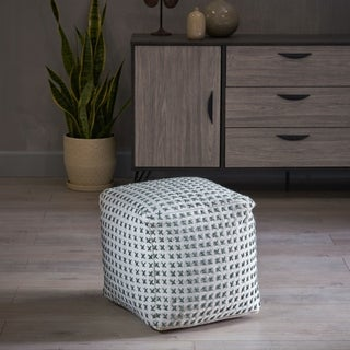 Fendi Fabric Pouf Ottoman by Christopher Knight Home