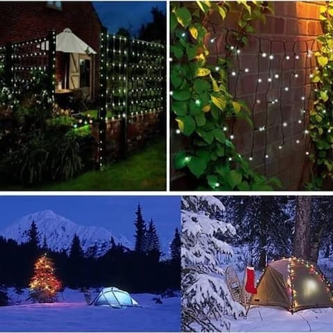 200 Outdoor Solar Powered LED String Fairy Lights