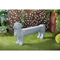 Eclectic 28 x 57 Inch Polystone Dog Bench