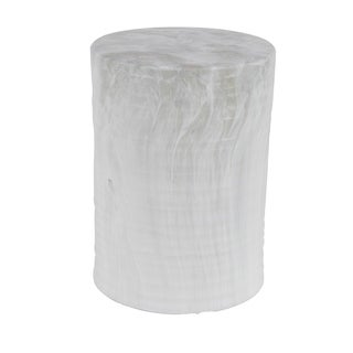 Eclectic 18 x 13 Inch Gray Ceramic Stool