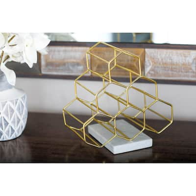 Contemporary 13 x 9 Inch Pyramid Wine Bottle Holder by Studio 350
