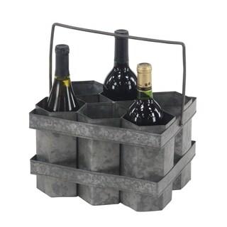 Rustic 7 x 11 Inch Six-Bottle Wine Holder