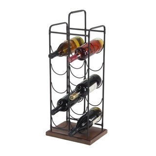 Palm Canyon Margee Farmhouse 24 x 11 Inch Freestanding Eight-Bottle Wine Holder