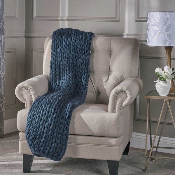 Christopher Knight Home Chunky Knit Throw