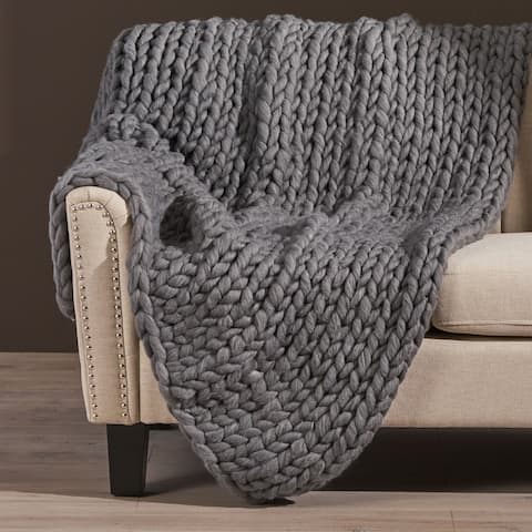 Marnie Knitted Acrylic Throw Blanket by Christopher Knight Home