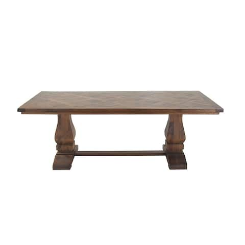 Traditional Rectangular Brown Mango Wood Dining Table by Studio 350