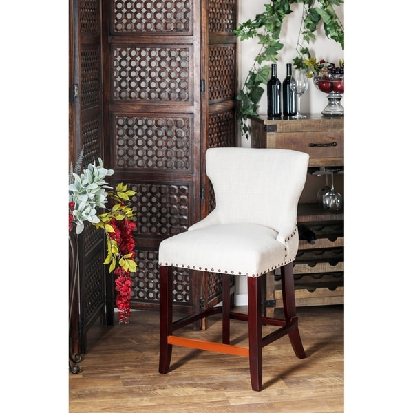 Shop Eclectic 38 X 21 Inch White Wingback Bar Stool Free Shipping