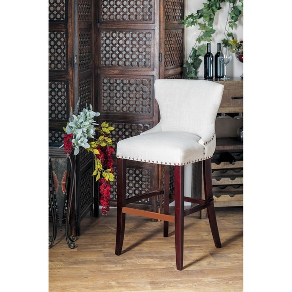 Shop Eclectic 44 X 21 Inch White Wingback Bar Stool On
