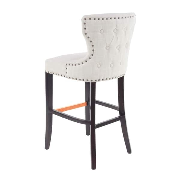 Wondrous Shop Eclectic 44 X 21 Inch White Wingback Bar Stool Free Creativecarmelina Interior Chair Design Creativecarmelinacom