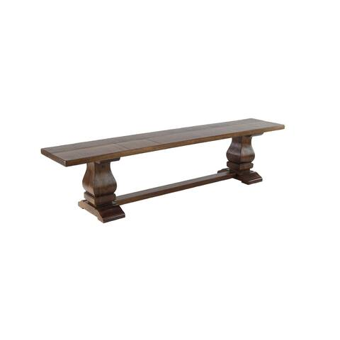 Traditional Brown Rectangular Mango Wood Dining Bench by Studio 350