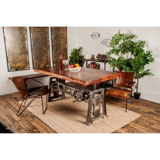 Industrial 33 x 71 Inch Rectangular Dining Table - Brown