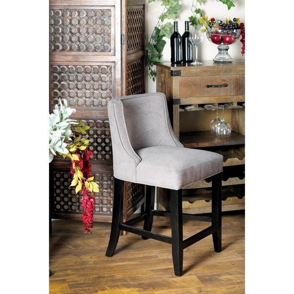 Shop Eclectic 36 X 20 Inch Gray Bar Stool Free Shipping
