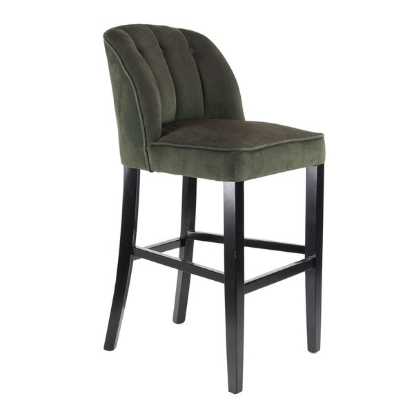 Eclectic 37 X 18 Inch Dark Green Bar Stool