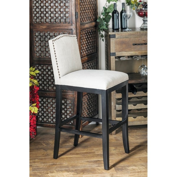 Shop Eclectic 43 X 20 Inch White Bar Stool Free Shipping