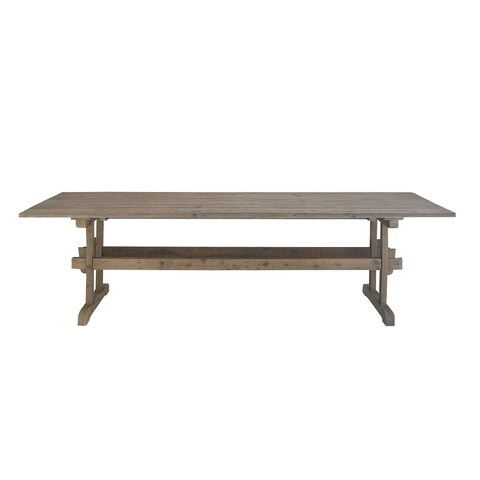 Rustic Rectangular Brown Wooden Dining Table by Studio 350