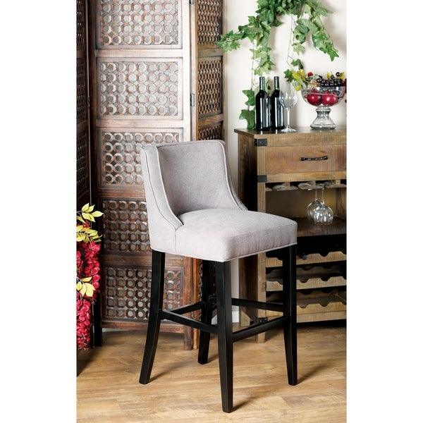 Shop Eclectic 42 X 21 Inch Gray Bar Stool Free Shipping Today