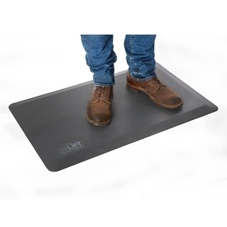 "Seville Classics AIRLIFT Anti-Fatigue Comfort Mat for Desk Kitchens, 20"" x 32"", Gray"