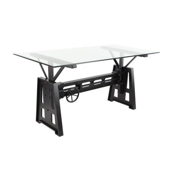Shop Modern 30 x 60 Inch Rectangular Black Dining Table ...