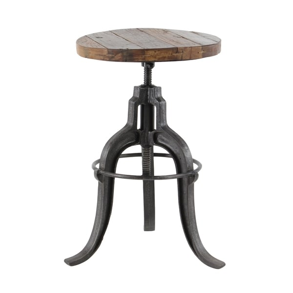 Shop 17 X 29 Industrial Style Adjustable Round Metal