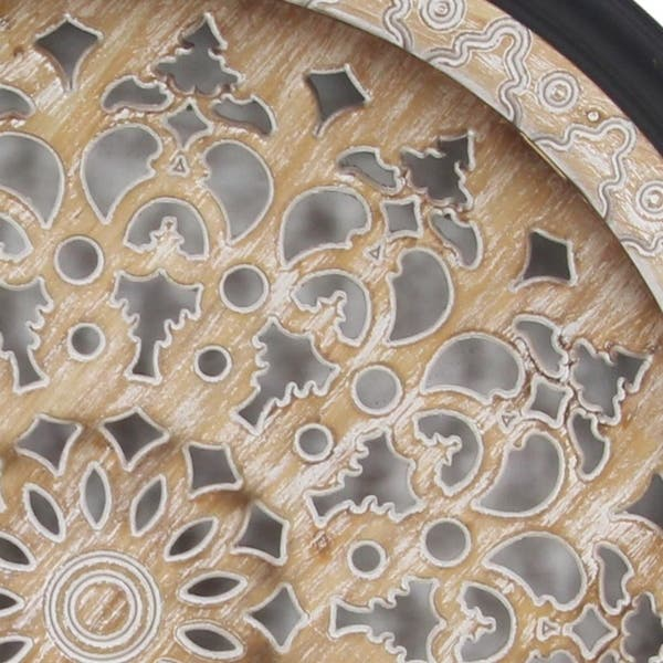 Traditional 39 Inch Round Cut Out Ornate Wall Decor