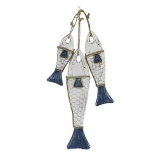 Coastal 21 x 8 Inch Imitative Hanging Fish Sculpture