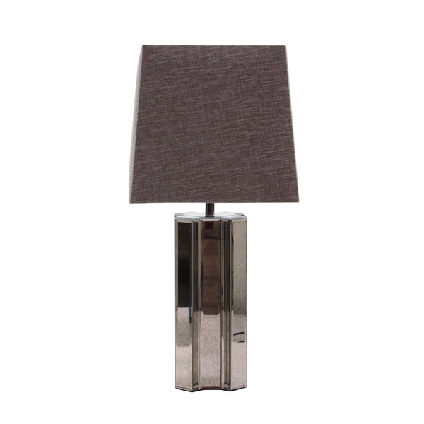 Contemporary 28 x 13 Inch Antique Mirror Table Lamp