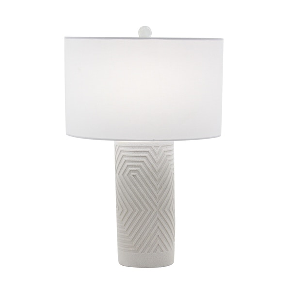 Modern 26 x 16 Inch White Polystone Table Lamp