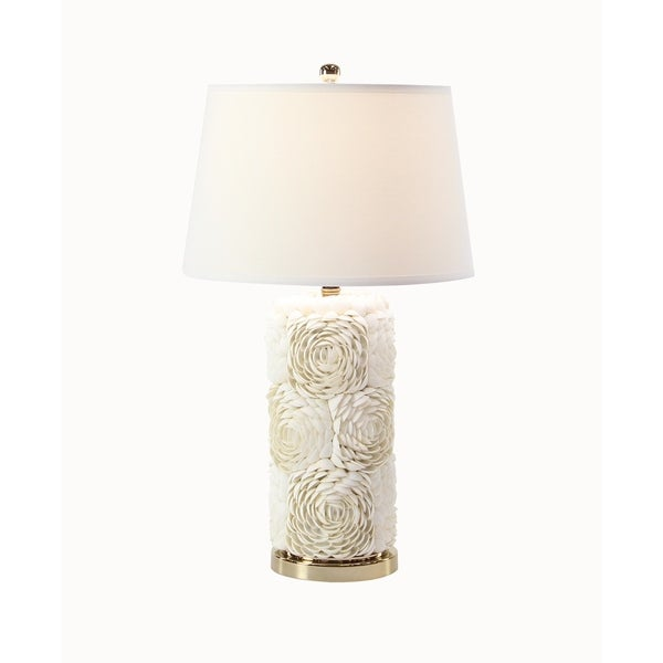 Modern 28 x 16 Inch Cylindrical White Table Lamp
