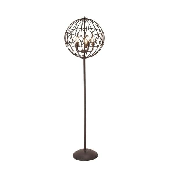 Modern 66 x 19 Inch Round Black Iron Cage Floor Lamp